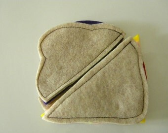 Sandwich Lunch Set - Pretend Felt Play Food