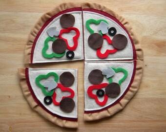 Felt Pizza Set - Pretend Play Felt Food Toy