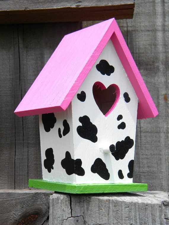 Small Bird House - Cow Print