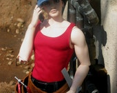 Man's red Tank top for EID Dollfie BJD