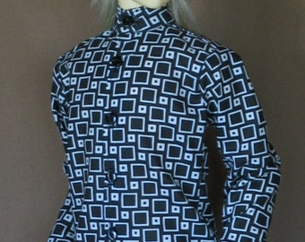 Cubed black n white shirt for BJD Dollfie Sd13 boys sizes