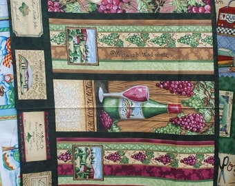 Wine Country Wine Bag Fabric Panel by South Sea Imports