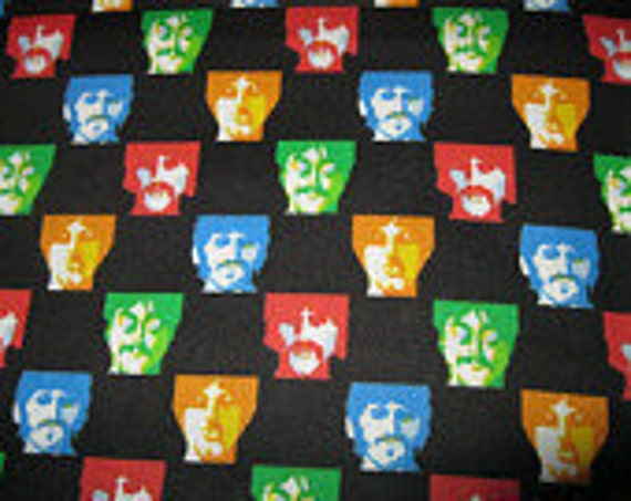 Beatles All You Need Is Love/Yellow Submarine Small Block Fabric OOP BTY