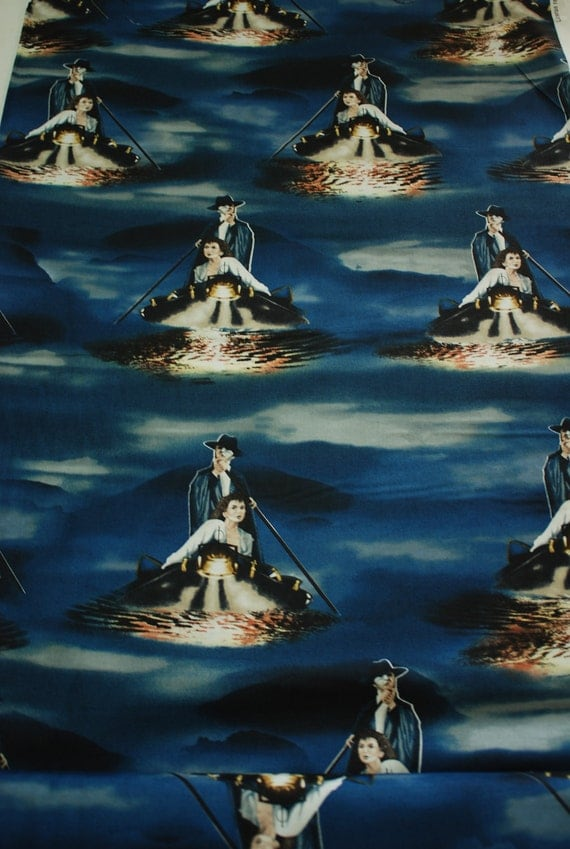 Phantom Of The Opera Music Of The Night Fabric Gondolas BTY Quilting Treasures