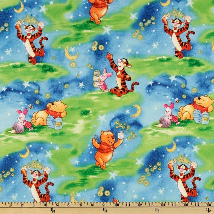 Winnie The Pooh Starry Night Fabric By Springs Creative Bty