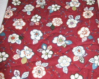 Nook Color Nook Cover Burgundy with White Flowers