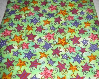Nook Color Nook Cover Bright Green with Stars
