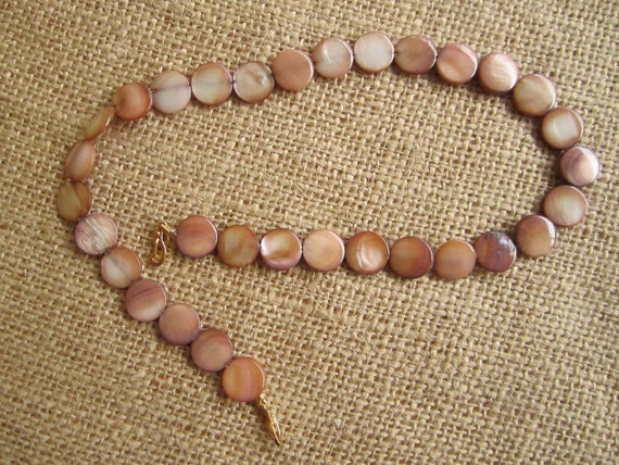 Dark Tan MOP Coin Beads for Convertible Necklace