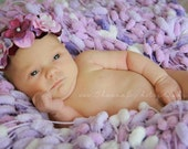 Lavendar and Lilac Purple Pompom Blanket Prop