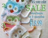 Baby Hat Owl sale/any color pictured. NEWBORN
