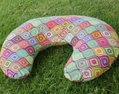 SALE!!! Nursing Pillow Cover, Boppy Style - Optical Delights, Multi