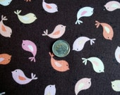 1/2 Yard Timeless Treasures Paisley Birds on Chocolate Fabric