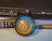 Shabby Day Snail - Hand Painted Pendant
