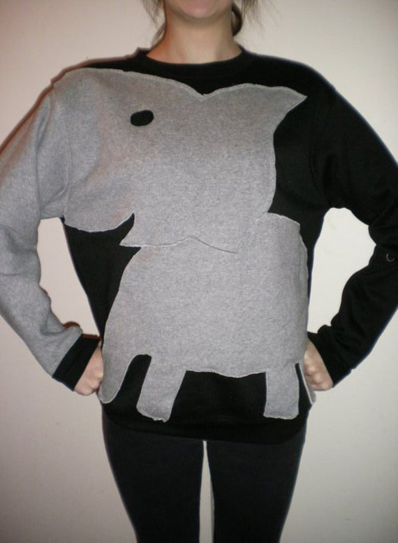 Black and Grey Size Small- Elephant Sweaters by Chanel C.