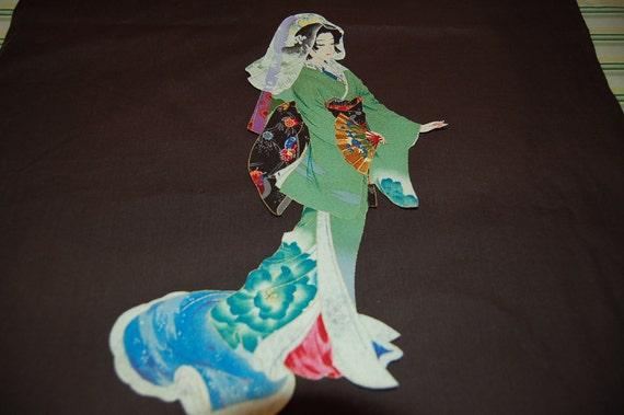 Geisha Iron On Applique