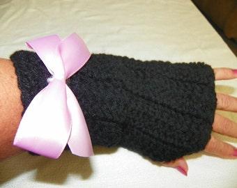 Victorian Punk Fingerless Gloves Hand Crochet