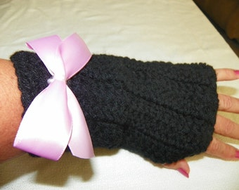 Victorian Punk Gloves Hand Crochet