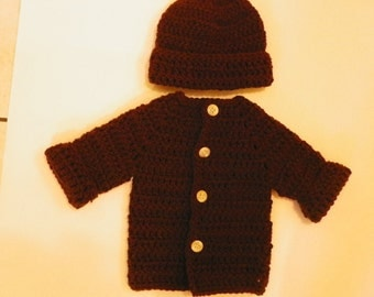 Baby Boy Sweater Set Brown Perfect for the Season