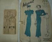 2 ladies 1930 1940 dress patterns SALE