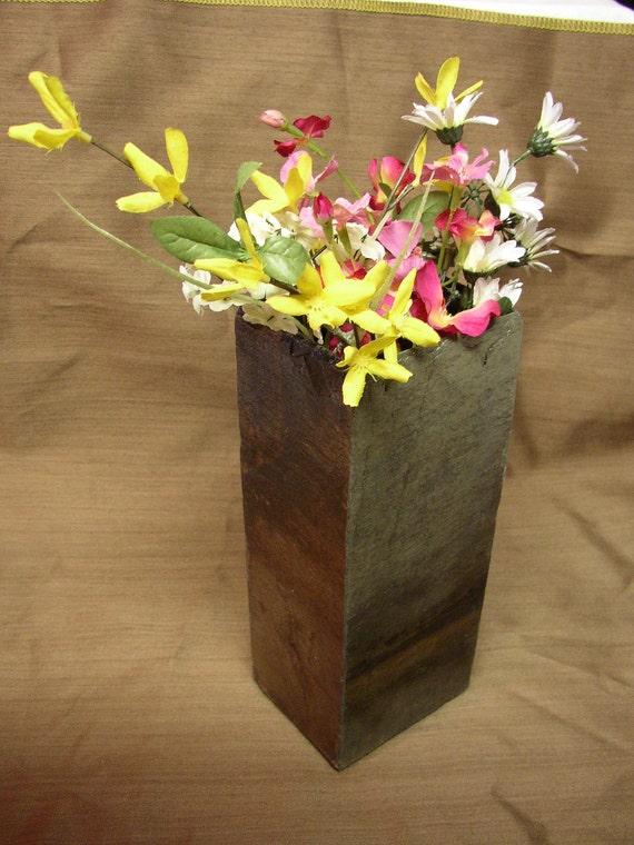 Tall slate vase handmade recycled slate LV 7