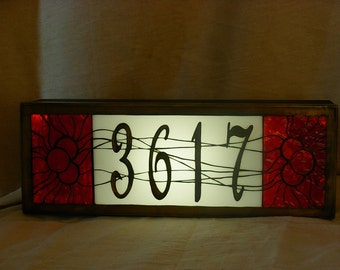 House Number Sign-lighted