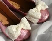 Pink Toddler Glitter Ballet Flat Shoes