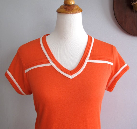 Vintage Coral V-Neck T-Shirt