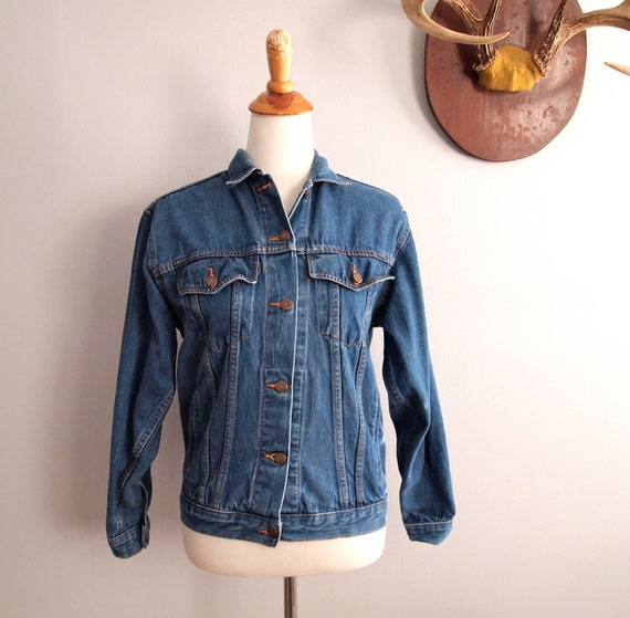 Vintage Denim Jacket Small Medium // Jean Jacket