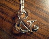 Serif Ampersand Necklace