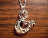 Etched Ampersand Necklace