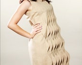 20% SALE until Dec13 - The waves - organic cotton dress with details - Ready to ship Sample Sale