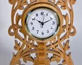 Scrollsawn Decorative Wood Clock