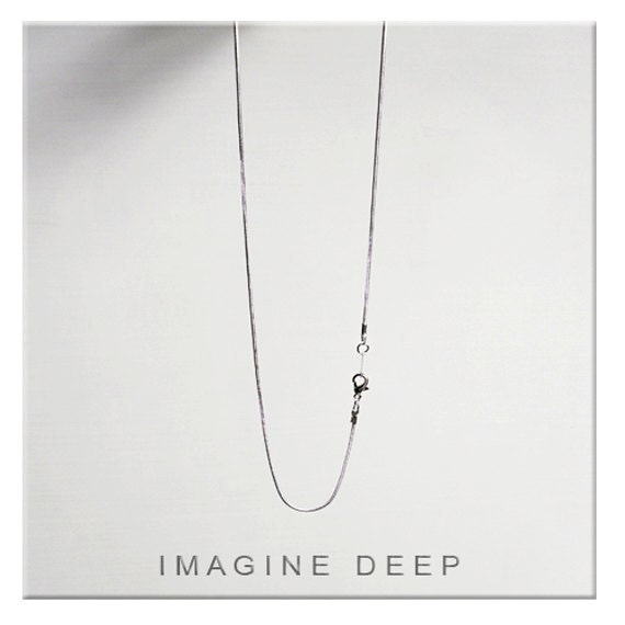16 Inch Silver Plated Snake Chain Necklace