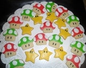 Power up SUPER MARIO BROTHERS cookies Two Dozen