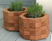 Octagonal Red Cedar Planter Box