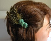Knotted Feather Hair-Clip. (Free shipping until Jan 1)