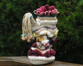 Mad Hatter Tea Pot: twined basket, all natural materials