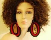 Kente inspired Drop Earrings