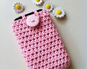 Pink phone cozy