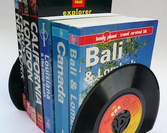 "Record Bookends Handmade from 7"" Vinyl Records Vintage Vinyl"