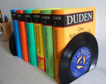 Record Bookends Dads Music Handmade from Vintage Vinyl Records