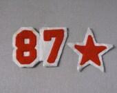Vintage Lettermans Jacket Numbers, 87