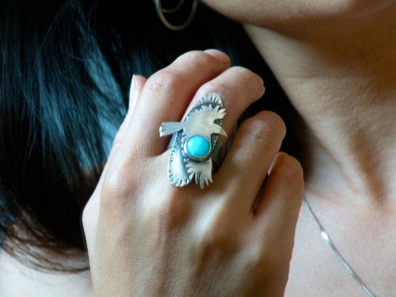 Sterling and Amazonite Ring - Let There Be A Raven