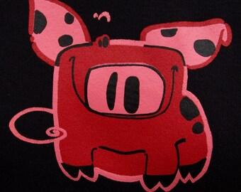Perky the Pig womens short sleeved t-shirt