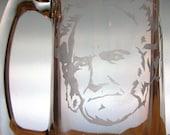Hand Etched Glass Mug - Arthur Schopenhauer - Philosopher Series