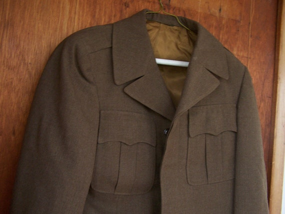 1945 WWII American Army Overcoat Regulation Officer's Field Jacket small