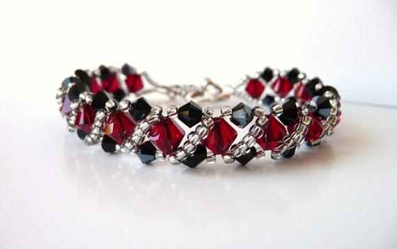 Swarovski Crystal Beaded Jewelry Bracelet Bead Woven