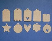 Kraft Paper Mini Tags - Plain - Set of 30