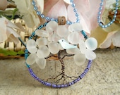 Tree of Life Blue Bird of Happiness Necklace