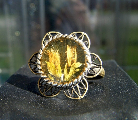 The Vintage Sunflower Ring